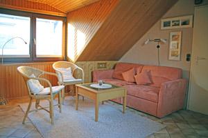 Der Schlaf-, Wohnbereich in Apartment Elsass